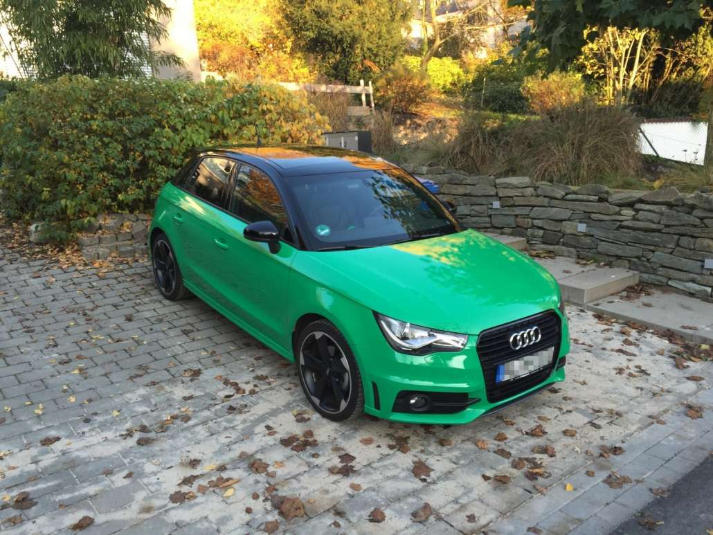 Audi A1 Carwrap grün