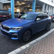 Autofolie Carwrap BMW blaumatt