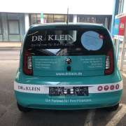 Finanzmakler Dr. Klein Autobeschriftung