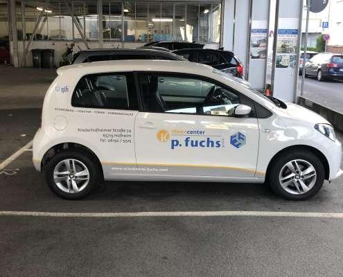 Schreinerei P. Fuchs Fahrzeugbeschriftung mit Dekor