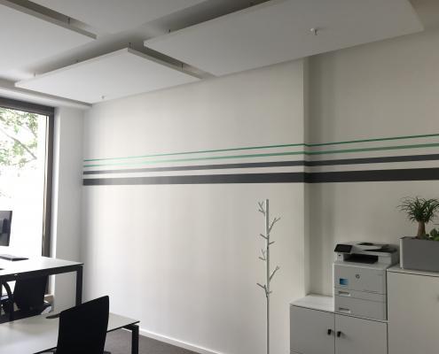 Streifendesign Wand Innenraum CI gerecht gestalten BCG Platinion (2)